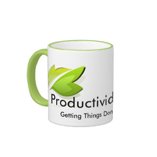 Productivity and gtd coffee cup green ringer coffee mug