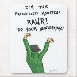 Productivity Monster Mousepad Mouse Pads