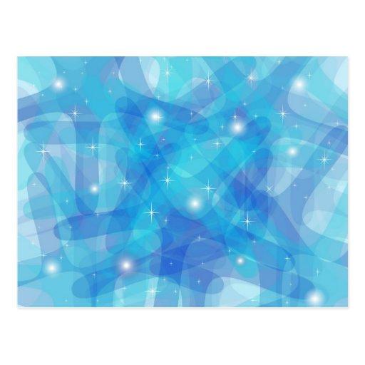Producto adaptable con el fondo abstracto azul tarjeta postal