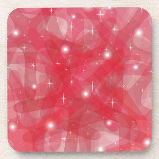 Producto adaptable con el fondo abstracto rojo posavasos