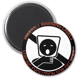 Producto-advertencia-etiquetas Imán Redondo 5 Cm