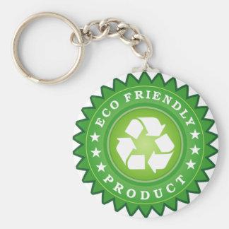 Producto amistoso de la ecología llavero personalizado