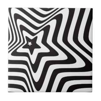 producto con vector blanco y negro de la ilusión azulejo cuadrado pequeño