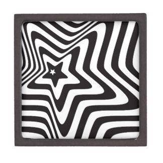 producto con vector blanco y negro de la ilusión cajas de regalo de calidad