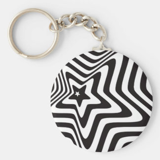 producto con vector blanco y negro de la ilusión llavero redondo tipo pin