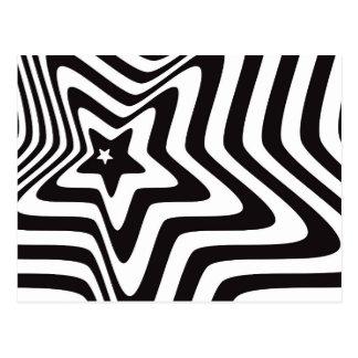 producto con vector blanco y negro de la ilusión tarjetas postales