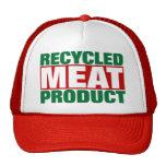Producto de carne reciclado gorras