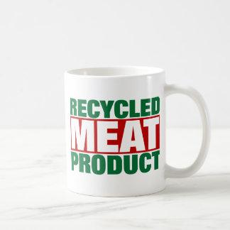 Producto de carne reciclado taza