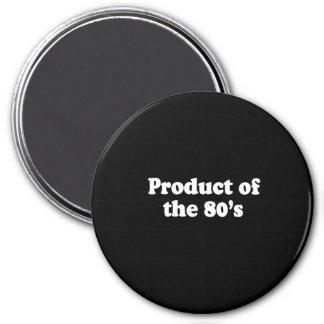 PRODUCTO de la camiseta de los años 80 Imán Redondo 7 Cm