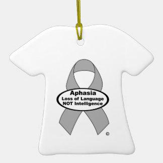 Producto de la cinta de la plata de la conciencia adorno de cerámica en forma de camiseta