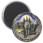 Producto de la impresión del arte de los lobos de  iman para frigorífico