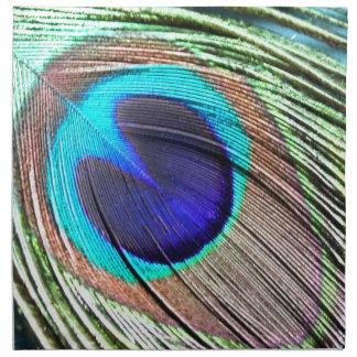 Producto de la pluma del pavo real servilleta imprimida