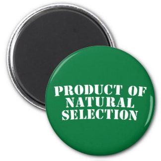 Producto de la selección natural imán redondo 5 cm