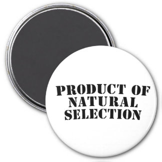 Producto de la selección natural imán redondo 7 cm