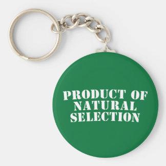 Producto de la selección natural llavero redondo tipo pin
