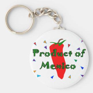Producto de México, camisetas de la pimienta de ch Llavero Redondo Tipo Pin