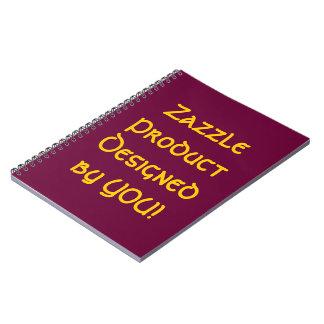 ¡Producto de Zazzle diseñado por usted Cuaderno