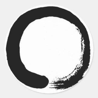 Producto del diseño del círculo del zen pegatina redonda