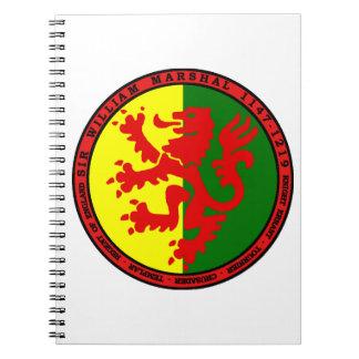 Producto del mariscal de Guillermo Spiral Notebook