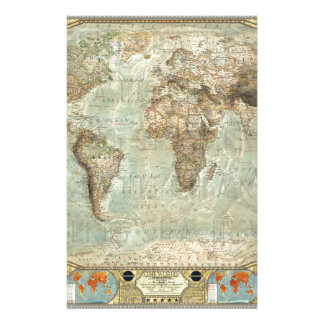 Producto del personalizable del mapa del mundo del papelería