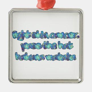 Producto del personalizar adorno navideño cuadrado de metal