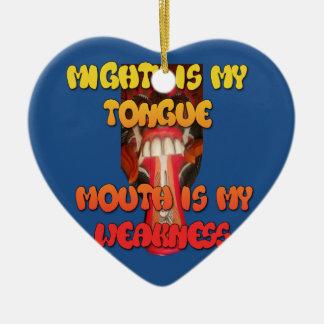 Producto del personalizar adorno navideño de cerámica en forma de corazón