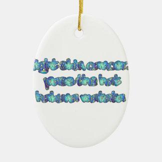 Producto del personalizar adorno navideño ovalado de cerámica