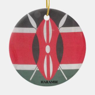 Producto del personalizar adorno navideño redondo de cerámica