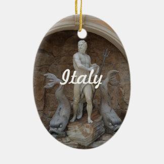 Producto del personalizar adorno ovalado de cerámica