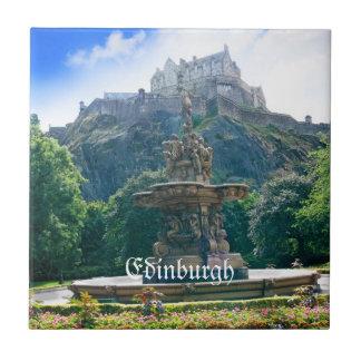 Producto del personalizar del castillo de Edimburg Azulejo Cuadrado Pequeño