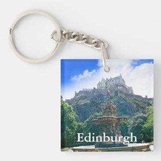 Producto del personalizar del castillo de Edimburg Llavero Cuadrado Acrílico A Una Cara