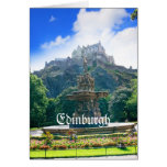 Producto del personalizar del castillo de Edimburg Tarjeton
