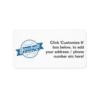Producto del personalizar etiqueta de dirección