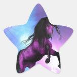Producto del personalizar calcomanías forma de estrellas personalizadas