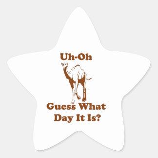 Producto del personalizar pegatina en forma de estrella