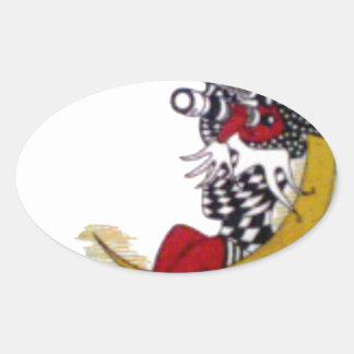 Producto del personalizar pegatina ovalada