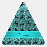 Producto del personalizar pegatina triangulo