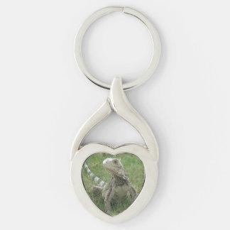 Producto del personalizar llavero plateado en forma de corazón