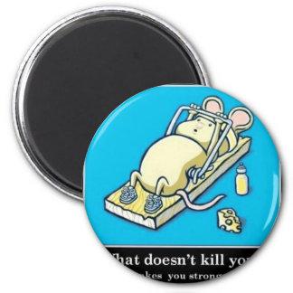 Producto divertido del ratón imán redondo 5 cm