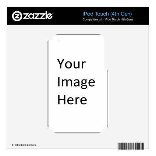 """Producto en blanco """"plantilla de la imagen del par iPod touch 4G calcomanía"""