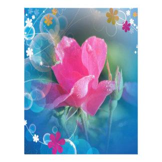 Producto multi subió rosa azul hermoso del fondo plantillas de membrete
