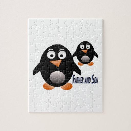 Producto múltiple del pingüino del padre y del hij puzzle