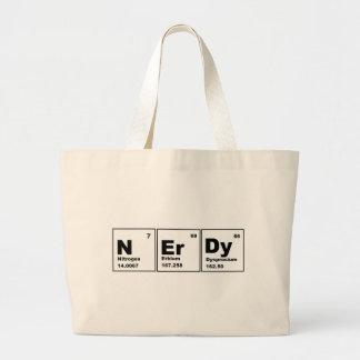 ¡Producto Nerdy de la química! Bolsa Tela Grande
