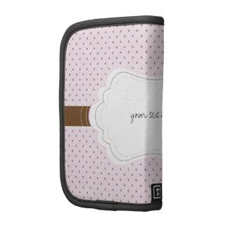 Producto rosado y blanco del personalizar de las e planificador