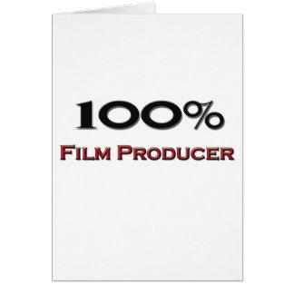 Productor cinematográfico del 100 por ciento tarjeta de felicitación