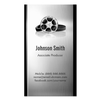 Productor cinematográfico - metal cepillado del ac tarjetas de visita