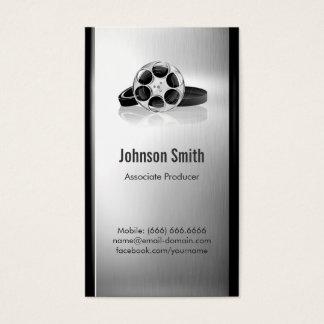 Productor cinematográfico - metal cepillado del tarjetas de visita