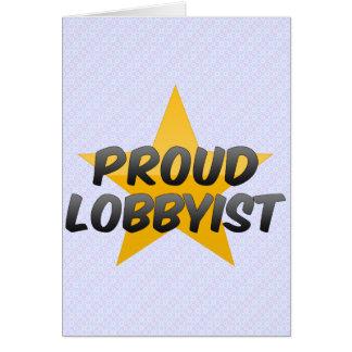 Productor cinematográfico orgulloso tarjeta de felicitación