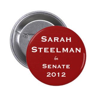 Productor de acero de Sarah para el botón del sena Pin