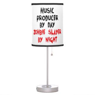 Productor de la música del asesino del zombi lámpara de mesilla de noche